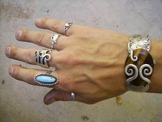jewelry made from sterling silver forks by nick greco