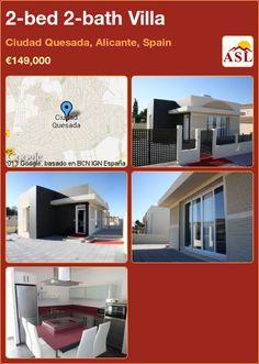 2-bed 2-bath Villa in Ciudad Quesada, Alicante, Spain ►€149,000 #PropertyForSaleInSpain