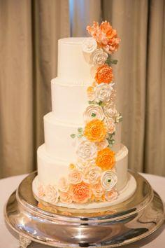 Four-Tiered Floral Wedding Cake --> http://www.hgtvgardens.com/weddings/7-sumptuous-wedding-cakes?s=2&soc=pinterest