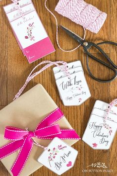 Valentine's Day Free Printable Gift Tags - On Sutton Place Cute Valentines Day Ideas, Valentines Gifts For Boyfriend, Valentines Day Decorations, Valentine Crafts, Valentine's Day Printables, Free Christmas Printables, Homemade Gifts For Boyfriend, Free Printable Gift Tags, Touch