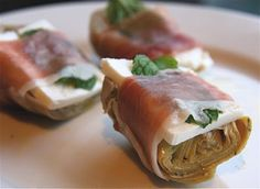 The Culinary Chase: Artichokes with Prosciutto, Feta and Mint Mini Appetizers, Healthy Appetizers, Appetizer Recipes, Christmas Appetizers, Picky Toddler Meals, Healthy Meals For Kids, Toddler Dinners, Toddler Lunches, Lactation Recipes