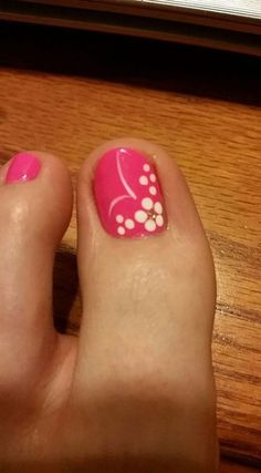 Ideas For Flower Pedicure Designs Toenails Simple Toe Nails, Pretty Toe Nails, Summer Toe Nails, Cute Toe Nails, Toe Nail Art, Diy Nails, Flower Pedicure Designs, Toenail Art Designs, Flower Toe Designs