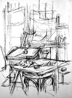 Gesture Drawing Objects Drawings - Everything About Charcoal Drawing and Sculpture Object Drawing, Line Drawing, Painting & Drawing, Charcoal Drawing, Drawing Reference, Drawing Sketches, Sketching, Alberto Giacometti, Horse Drawings