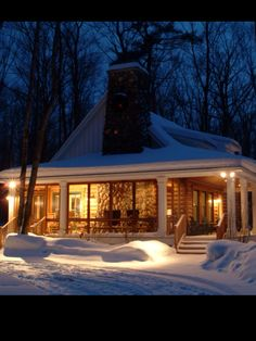 Enchanting small cottage in the snowy woods. built by the Cottage Company of Harbor Springs. Cabin In The Woods, Cottage In The Woods, Cozy Cottage, Snowy Woods, Cottage Living, Country Living, Winter Cabin, Cozy Cabin, Cozy Winter