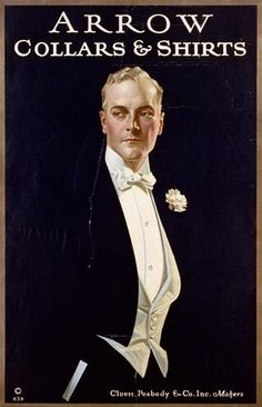 Leyendecker's Arrow Collar Man, as well as the images he later created for Kuppenheimer Suits and Interwoven Socks, came to define the fashionable American male during the early decades of the twentieth century.[4] Leyendecker often used his favorite model and lover Charles Beach (1886–1952).