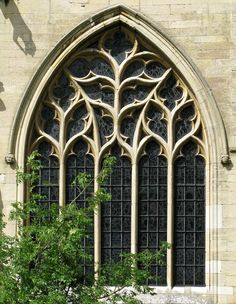 Decorated south chancel window, the Church of St Wulfram, Grantham, Lincolnshire, England