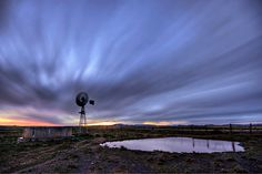 Windmill Twilight - South Africa ~ Photo by. Live Life Love, African Life, South African Artists, Meteorology, Amazing Pics, Old Barns, Afrikaans, Windmill, Cape Town