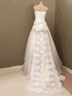 vintage givenchy wedding dress (back)