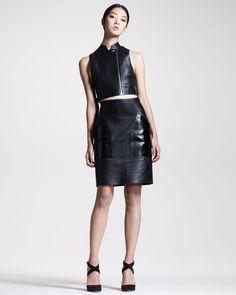 http://ncrni.com/alexander-wang-leather-biker-vest-crocpocket-skirt-p-7230.html
