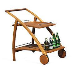 Riviera Outdoor Bar Cart, Natural