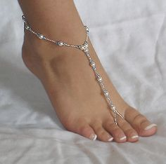 How to Make Beaded Foot Jewelry for The Beach - could be something blue?