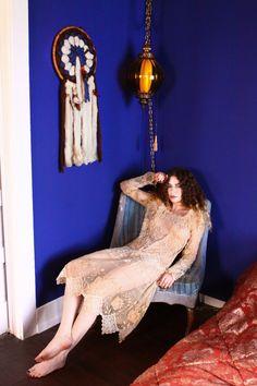 Antieke Flapper jurk / Vintage jaren 1920 jurk / jaren 1920 Flapper jurk Lace