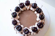 Birds Eye View - Chocolate And Black Cherry Cake - Kay's Kitchen