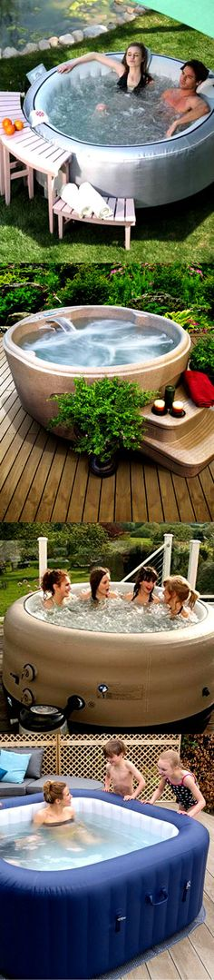 Pamper yourself with a hot tub spa in your own backyard!