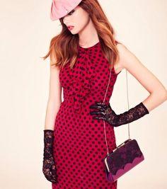 #AllanahHill #fashion #dress #melbourne #reddress #blackgloves #gloves
