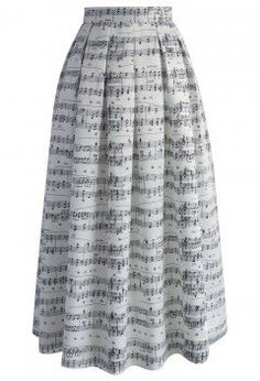 Dance with Music Notes Maxi Skirt - Bottoms - Retro, Indie and Unique Fashion