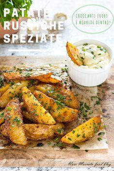 Patate rustiche speziate: gustale con le salse che preferisci!  #foodphotography #food #ricetta #nocemoscatafoodblog #gialloblogs