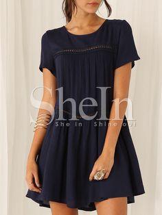 Navy+Short+Sleeve+Shift+Dress+18.69