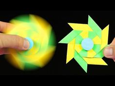 How To Make A Paper Fidget Spinner WITHOUT BEARINGS - YouTube