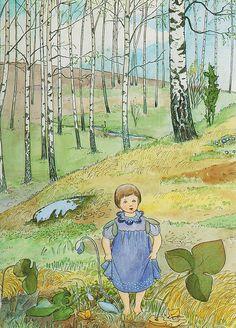 Elsa Beskow (née Maartman) February Stockholm – 30 June was a Swedish author and illustrator of children's books Elsa Beskow, Vintage Children's Books, Vintage Art, Poster Shop, Retro Kids, Book Images, Woodland Creatures, Children's Book Illustration, Cute Art