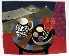 Three Red Poppies by Mary Fedden  Lithograph 43 x 55.5cm