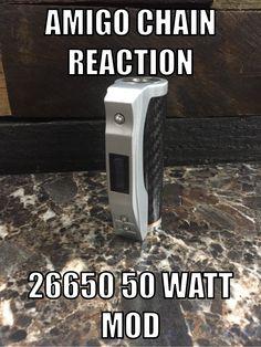 NOW IN STOCK!!!!! Amigo Chain Reaction 50 watt 26650 mod