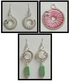 The Beading Gem's Journal - link to Judy Larson's Snail Wire Wrapped Donut Earring - free tute.  #Wire #Jewelry #Tutorials