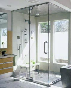STAINLESS STEEL SHOWER PAN WITH MATCHING STAINLESS STEEL CEILING PANEL