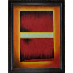 Saffron by Mark Rothko on Canvas Art in Black, Red and Yellow