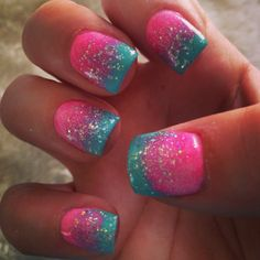 Gender Reveal Nails