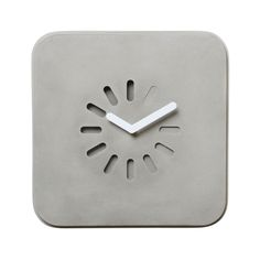 Add a dash of industrial chic to the home with this Life in Progress Clock from Lyon Beton. In simple yet sleek concrete, it has an industrial feel and the digital loading icon clock face reflects the