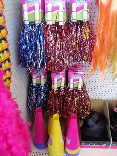 Dollar Tree Pom-Poms: Go team go!  Get ready for your next cheerleading party with style.