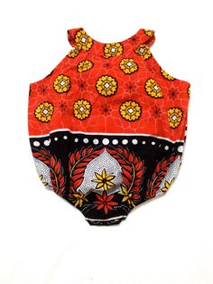 African Print Red Baby onesie by CLADELL on Etsy, £8.00