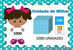 Cartazes com o valor posicional para fixação em sala de aula... Preschool Math, Kids Education, Homeschool, Banner, Poster, Teacher, Comics, Reading, Cards