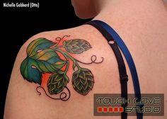 Beer Hops Tattoo   Nichelle Gabbard   Tough Love Studio