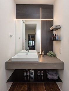 Home Lighting, Bathroom Lighting, Model Homes, Modern Design, Living Room, Mirror, House, Furniture, Home Decor
