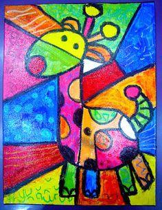 Bri-coco de Lolo: Une girafe bien colorée
