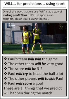 AskPaulEnglish: WILL ... for predictions ... using football