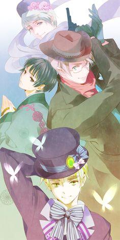 Tags: Anime, Fanart, Axis Powers: Hetalia, Japan, Russia