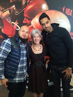 Secretary Sebelius poses for a photo with Cool and Dre during an outreach and enrollment event in Miami, FL.