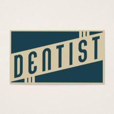 rétro dentiste cartes de visite
