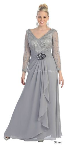 Plus Size Mother of The Bride Groom Dress Formal Evening Long Sleeve Trendy Gown | eBay