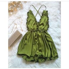 Sexy Club Jumpsuits Spaghetti Strap Backless Sophisticated Silk Satin Bodysuit 3 Colors One-Piece Rompers Womens Jumpsuit Backless Playsuit, Beach Playsuit, Silk Romper, Summer Romper, Satin Shorts, Satin Playsuit, Dress Summer, Rompers Women, Jumpsuits For Women