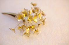 hydrangea hairclip made by Sakae 8月15日  金色の髪飾り(コンコルドクリップ) を出品致しました : 榮 - kanzashi sakae - 簪作家