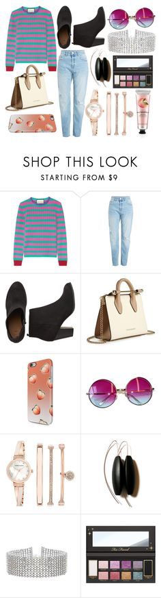 """""""Sin título #4612"""" by onedirection-h1n1l2z1 on Polyvore featuring Gucci, Strathberry, Janis, Anne Klein, Steve Madden, The Body Shop, men's fashion y menswear"""