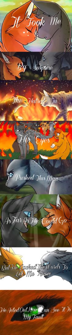 Surprise | By: 4WarriorCats4 ~ It is part of a song and I say it works as different quotes. I did not draw the pictures, I edited in the words and put the pictures together.