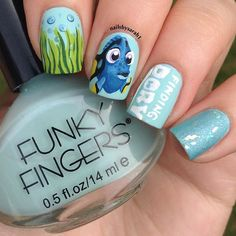 """Nail Art Inspired by Disney's """"Finding Dory"""""""