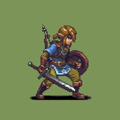 pixel art for games at DuckDuckGo Pixel Art Gif, How To Pixel Art, Pixel Art Games, Link Pixel Art, Character Design Animation, Character Art, Character Sketches, Character Illustration, Arte 8 Bits
