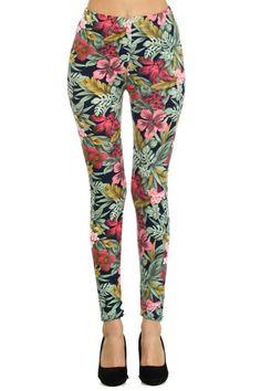Womens Tropical Floral Printed Leggings www.chandlyla.com  #sexy #cartoons #legggings #Womenleggings #FlowerLeggings #ColorfulLeggings #YogaLeggings #PatternLeggings #flowersLeggings #triballeggings #aztecleggings #floralleggings #geometric #tribal #aztec #yoga #pattern #tights #festival