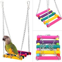 Us 116 22 Off Bird Chew Toy Parrot Parakeet Budgie Cockatiel Cage Hammock Swing Toy Hanging Toy In Bird Toys From Home Amp Garden On Aliexpress Hammock Swing, Hanging Hammock, Funny Bird, Diy Bird Toys, Diy Budgie Toys, Diy Parrot Toys, Diy Bird Cage, Cockatiel Cage, Hanging Ladder